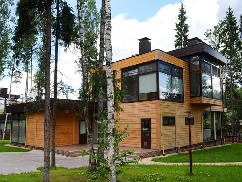 Modernes holzhaus flachdach  Neubau - Dietz Holzbau